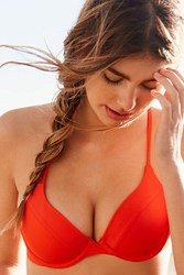 Out From Under Underwire Demi Bikini Top Coral
