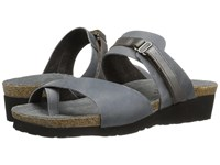 Naot Footwear Jessica Vintage Slate Leather Mirror Leather Women's Sandals Gray