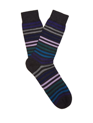 Pantherella Kilburn Striped Fine Knit Socks