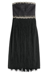 Tamara Mellon Embellished Bandeau Dress With Fringe