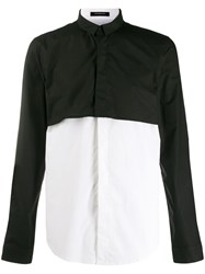 Unconditional Contrast Panelled Shirt Black