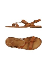 Keep Footwear Thong Sandals Men Tan