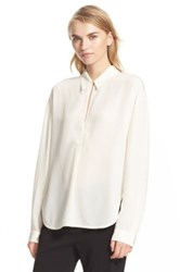 Brochu Walker 'Sidney' Crepe De Chine Blouse White
