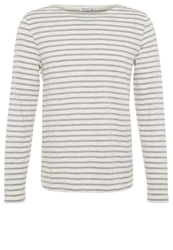 Filippa K Long Sleeved Top Ivory Grey Melange Off White