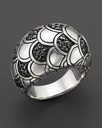 John Hardy Women's Sterling Silver Naga Lava Dome Ring With Black Sapphires Silver Black