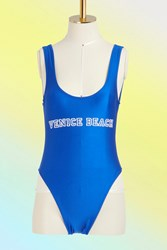 Private Party Venice Beach One Piece Swimsuit Royal Blue