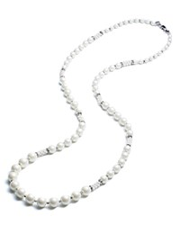 Carolee Convertible Beaded Necklace 36 White