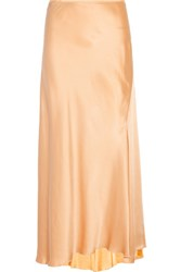 Nina Ricci Satin Maxi Skirt Peach