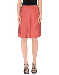 Space Style Concept Skirts Knee Length Skirts Women Coral
