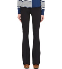 Mih Jeans Marrakesh Flared High Rise Jeans Dark Indigo