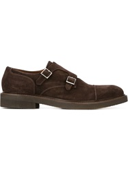 Eleventy Classic Monk Shoes Brown
