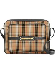 Burberry The Large 1983 Check Link Camera Bag Nude And Neutrals