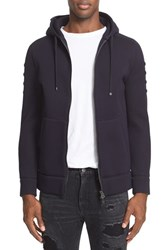 Helmut Lang Men's Full Zip Hoodie Black Indigo