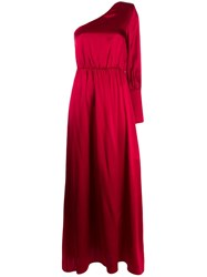 Federica Tosi Fitted One Shoulder Dress Red