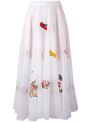Vivetta Floral Embroidered Maxi Skirt Women Polyester 42 White