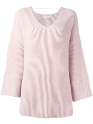 Chinti And Parker Bell Sleeves Jumper Pink Purple
