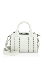 Alexander Wang Mini Rockie Studded Leather Satchel White
