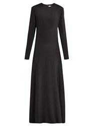 Raey Long Sleeved Silk Gown Black