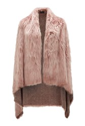 James Lakeland Faux Fur Gilet Pink