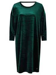 Numph Larissa Velvet Dress Green