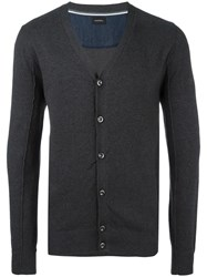 Diesel Button Up Cardigan Black