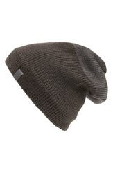 Men's Arc'teryx 'Castlegar Toque' Long Wool Blend Beanie With Fleece Earband Grey Carbon Copy