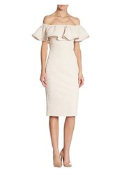 Alberto Makali Ruffled Off The Shoulder Dress Ivory