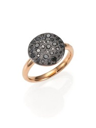 Pomellato Sabbia Black Diamond And 18K Rose Gold Ring Rose Gold Black