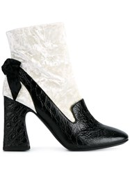 Erdem Two Tone Ankle Boots White