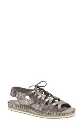Trask Chandler Ghillie Sandal Pewter Leather