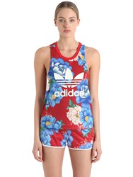 Adidas Originals By Farm Flower Printed Techno Jersey Top