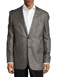 Giorgio Armani Buttoned Jacket Light Grey