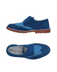 Angelo Nardelli Lace Up Shoes Blue