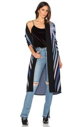 Mara Hoffman Compass Knit Long Cardigan Blue