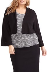 Michel Studio Plus Size Women's Kimono Sleeve Shrug Black