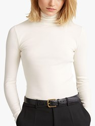 Ralph Lauren Polo Ribbed Turtleneck Top Clubhouse Cream