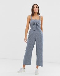 Abercrombie And Fitch Jumpsuit With Tie Front Blue