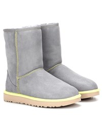Ugg Classic Short Ii Leather Ankle Boots Grey