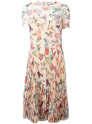 Red Valentino Floral Print Dress Red