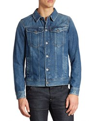 G Star Slim Fit Denim Jacket Medium Aged Blue