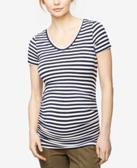 A Pea In The Pod Maternity Striped T Shirt Navy White Stripe