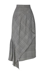 Tibi Jasper Suiting Skirt Grey