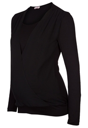 Bellybutton Jarla Long Sleeved Top Stretch Limo Black