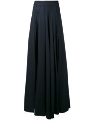 Jacquemus Soft Pleat Palazzo Trousers Blue