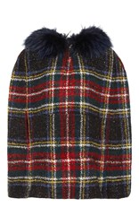 Mr And Mrs Italy Old School Check Hooded Cape Plaid