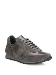 To Boot Pelham Lace Up Leather Sneakers Grey