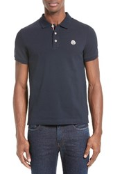 Moncler Men's Stripe Placket Polo
