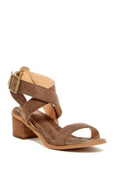 Muk Luks Ankle Strap Sandal Brown