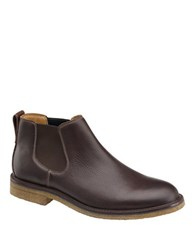 Johnston And Murphy Copeland Leather Chelsea Boots Dark Brown