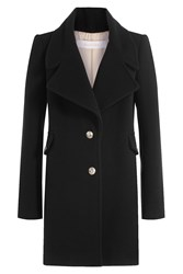 See By Chloe Wool Coat With Embossed Buttons Black